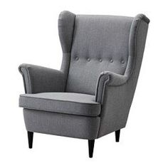 STRANDMON Wing chair, Nordvalla dark gray - Nordvalla dark gray - IKEA