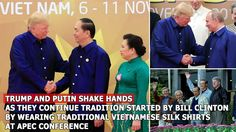 Trump and Putin shake hands as they continue tradition at APEC conferenc...