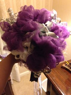 The ribbon bouquet I made for my sister for the rehearsal. I made it from all of her ribbons and bows from her shower. Rehearsal Bouquet, Wedding Rehearsal, Bridal Shower Bouquet, Ribbon Bouquet, Wedding Crafts, Wedding Ideas, Best Friend Wedding, Bridal Salon, Bride Bouquets