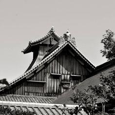Rooftop in Kyoto  Japan.