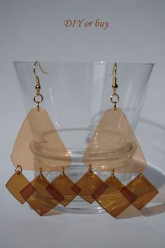 Earrings from recycled plastic soda PET bottle by DIYorbuyHungary