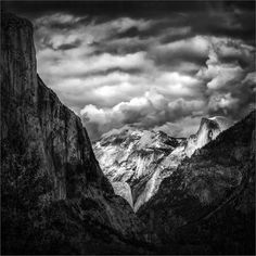 In the tradition of Ansel Adams, Middleton likes black-and-white photography for its emphasis on form and composition. This one is of a clearing storm at Half Dome, Yosemite National Park. (Gordon Middleton)
