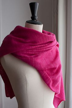 Verona Shawl by Morehouse Designs | malabrigo LAce in Fucsia