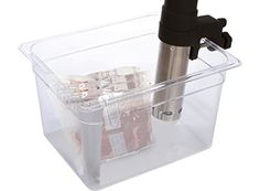 Sous Vide Container 12 Quart For Anova Nomiku Sansaire PolyScience Immersion Circulator And Sous Vide Controller Works With All Sous Vide Rack Clear Strong Polycarbonate High Temperature Tolerance -- You can get additional details at the image link-affiliate link. #KitchenAppliances SALE