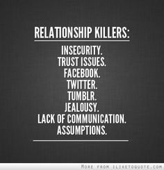 relationship and communication | Relationship killers: Insecurity, trust issues, facebook, twitter ...