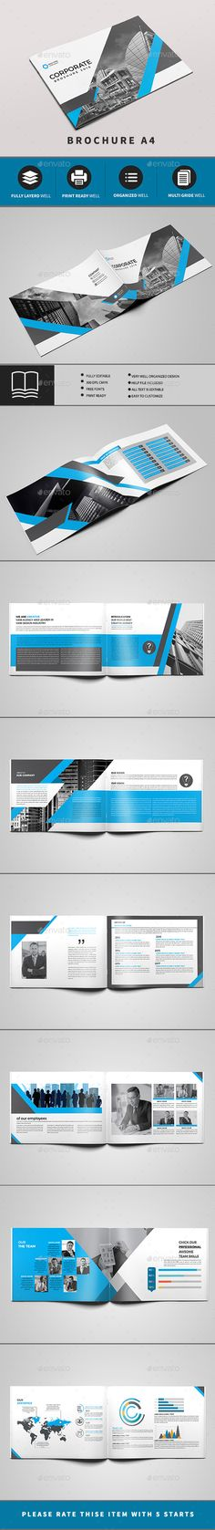 #Corporate #Brochure 16 PAGE - #Brochures Print Templates Download here: https://graphicriver.net/item/corporate-brochure-16-page/19701107?ref=alena994