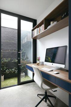 Home Office Design Doubtful Melbourne Ideas Remodels Photos 11 Home Office Setup, Home Office Design, House Design, Office Style, Office Desk, Office Furniture, Garage Office, Office Designs, Loft Design