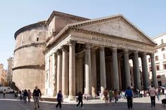 This is the Pantheon which is the best preserved building from ancient Rome. It was a Roman Temple and has since been turned into a church. The Greco-Roman influence can be seen with the Corinthian columns at the entrance to the building. Classical Architecture, Ancient Architecture, Architecture Design, Architecture Quotes, Ancient Rome, Ancient History, Nasa History, European History, Ancient Aliens