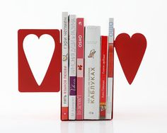Bookends Heart laser cut metal bookends by DesignAtelierArticle, €37.00
