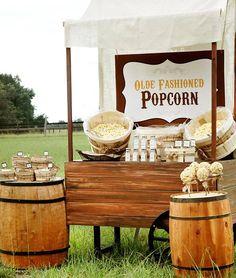 #popcorn stall decor #decor wedding rustic #decor wedding outdoor