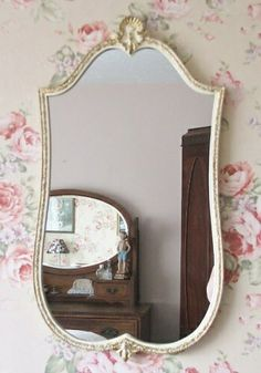 Rococo-style mirror - found on countrystyleliving.co.uk