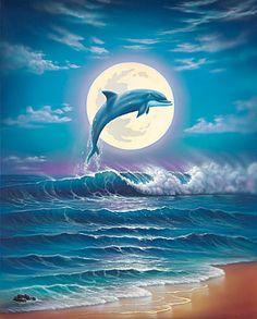 Dolphin Moon - Jeffrey Michael Wilkie