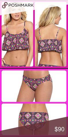 *COMING SOON* Betsey Johnson Bikini Set BOHEMIAN ROSE bikini set features a bandeau top and hipster bottoms. Betsey Johnson Swim Bikinis