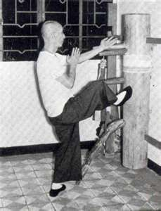 Yip Man, master of Wing Chun Kung Fu and Bruce Lee's first instructor. Many aspects of Jeet Kune Do (Bruce Lee's martial art) are derived from the early teachings of Yip Man.