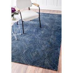 nuLOOM Modern Geometric Trellis Blue/ Grey Rug (5' x 8') $221