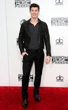 Shawn Mendes from 2016 AMAs Red Carpet Arrivals
