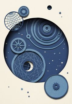 Owen Gildersleeve 'Stargazing'. An illustration inspired by the night sky, referencing various celestial charts.
