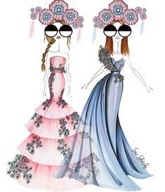 "«""Rose Quartz and Serenity are so in right now."" @pantone #coloroftheyear #rosequartz #serenity #love #major #sewsketchy #fashionista #fashionillustrator…»"