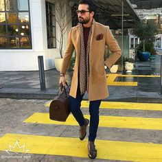 "4,923 Likes, 93 Comments - Class Men Style Fashion (@inspirations_style) on Instagram: ""Great style inspiration by our friend @tufanir    Awesome Camel coat …"""