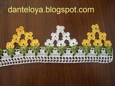 This Pin was discovered by HUZ Fabric Tutu, Fabric Flowers, Viking Tattoo Design, Sunflower Tattoo Design, Homemade Beauty Products, Crochet Lace, Diy And Crafts, Daisy, Crochet Patterns
