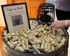 wine corks for guest book | Of course, what wedding would be complete without a photo shoot with ...