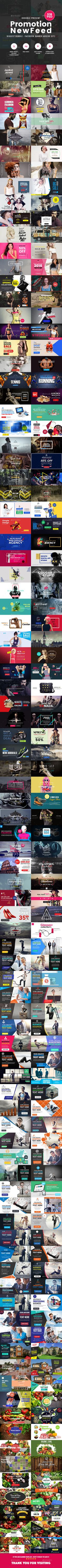[Biggest Bundle] - Promotion Facebook Banner Ads - 518 PSD [02 Size Each] - Banners & Ads Web Elements