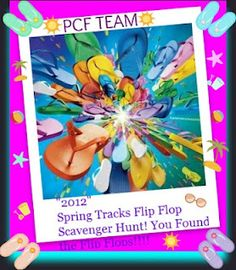 PCF Team Spring Track Flip Flop Scavenger Hunt, - April 23rd at 7am EST, to April 31st midnight EST  toppytoppy  is offering 4 coupons for this event  SAVEWME ( Free shipping  Domestic only)    buy 1 =  SPR1NG12   (10% off)    buy 2  = JXF2X15  (15% off )  buy 3  =  BUYME3  (25% off)      SAVEWME  Free shipping  Domestic only      buy 1 = SPR1NG12  10% off    buy 2 = JXF2X15 15% off      buy 3 = BUYME3  25% off