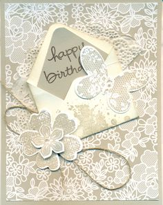 Something Borrowed DSP, Butterfly Basics Bundle, Gorgeous Grunge and Flower Shoppe stamp sets.Pansy punche.