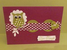 Eule ,,Glückwunschkarte,Karte,Geburtstagskart... von Schönes aus Stempel und Papier auf DaWanda.com