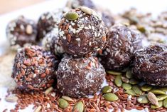 Seed Cycling Balls to Balance Hormones Naturally Emily Morrow Seed Cycling Balls Seed Cycling, Women's Cycling, Cycling Jerseys, Healthy Desserts, Healthy Recipes, Clean Eating, Healthy Eating, Healthy Food, Balance Hormones Naturally