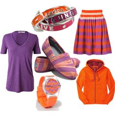 Orange and Purple Outfit