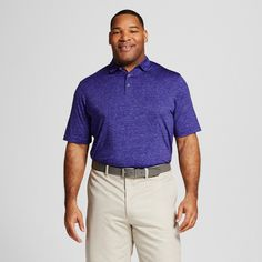 Men's Big & Tall Space Dye Golf Polo