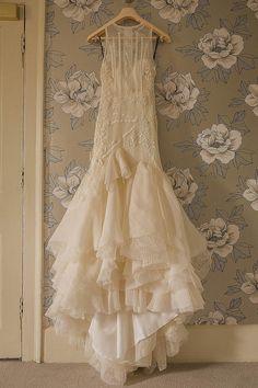 A Halterneck YolanCris Gown for a Wildflower English Country Garden Wedding | Love My Dress® UK Wedding Blog