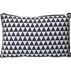 Rectangle Grey Triangles Cushion ($22) ❤ liked on Polyvore featuring home, home decor, throw pillows, gray home decor, grey toss pillows, rectangular throw pillows, grey home decor and gray throw pillows