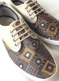 Men's ethnic pattern shoes on Etsy, €50.00