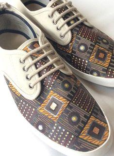 Men's ethnic pattern shoes on Etsy, €50.00
