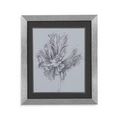 Bassett Mirror Silvery Blue Tulips III Framed Painting Print