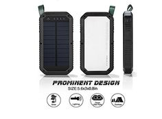 Solar Charger, USB and Light Solar Power Bank Portable Battery Cellphone Charger, Solar Panel for Emergency Outdoor Camping Hiking for iOS and Android cellphones (Black) Solar Phone Chargers, Solar Charger, Portable Battery, Outdoor Camping, Solar Panels, Solar Power, Hiking, Usb, Sun Panels