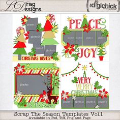 Scrap The Season Templates Vol. 1 by LDrag Designs