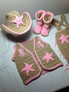 Crochet cowgirl outfit NB through 6 months by CrochetbyDestinee