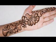 Arabic Bridal Mehndi Designs, Mehndi Designs Front Hand, Basic Mehndi Designs, Dulhan Mehndi Designs, Latest Mehndi Designs, Mehndi Designs For Hands, Mehendi, Mehndi Video, Burfi Recipe