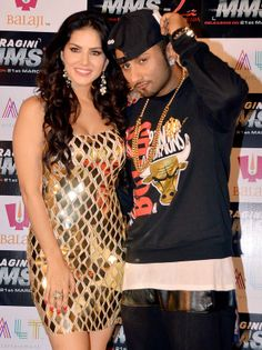Honey Singh with Sunny Leone. #Style #Bollywood #Fashion #Beauty #RaginiMMS2
