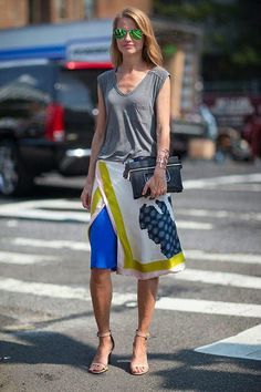 high/low perfection | silk skirt + muscle tank #streetstyle #summerstyle