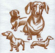 Embroidered fleece blanket with Dachshund by LardieCustom on Etsy, $25.00+7.00 shipping