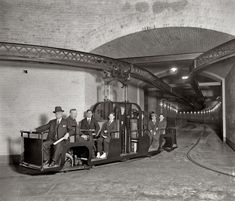 """Washington, D.C., 1915. """"Senate Subway R.R."""" The Senate & House subway both serve the vital functions of quickly transporting Senators & Representatives (and the staffs and other personnel) from their respective office buildings to the Capitol building. Saving time in getting from the offices to the Senate & House chambers is no small consideration where voting is concerned, or quorum calls."""