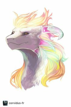 omg fabulous rainbow dragon