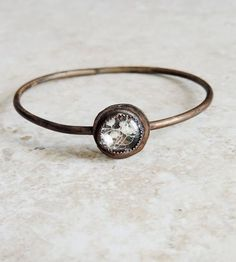 Baby's Breath Brass Bangle