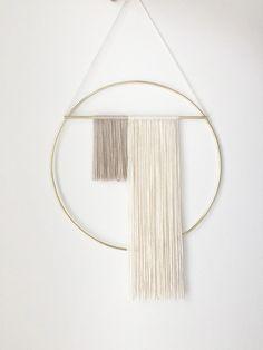 Bamboo Fawn Silk Blend Fiber and Brass Wall di SonadoraInLove