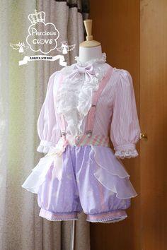 Precious Clove ***Singing in the rain*** Ouji Short Pants $ 79.99 - My Lolita Dress