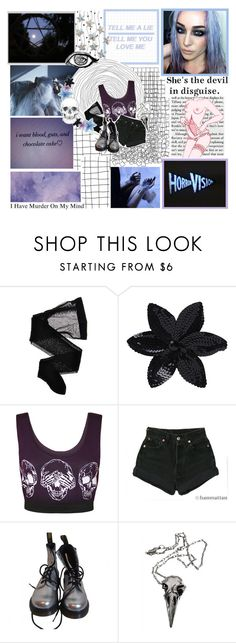 """""""Untitled #365"""" by hellhole999 ❤ liked on Polyvore featuring Wolford, ASOS, WearAll, Levi's, Dr. Martens, Pamela Love, women's clothing, women's fashion, women and female"""